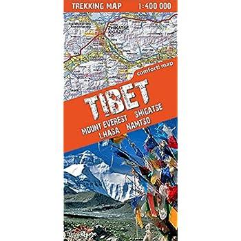 TIBET-MOUNT EVEREST/SHIGATSE/LHASA  1/400.000