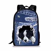 Nopersonality Kids Backpack Boys Girls School Bag Cool Trendy Animal Print Rucksack