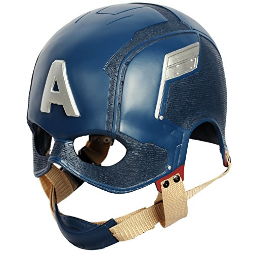 Chiefstore Capitan America Maschera Steven Rogers Casco Movie Cosplay Costume Testa Piena Mercanzie in Resina per Uomini Adulti Halloween Fancy Dress Accessori Replica