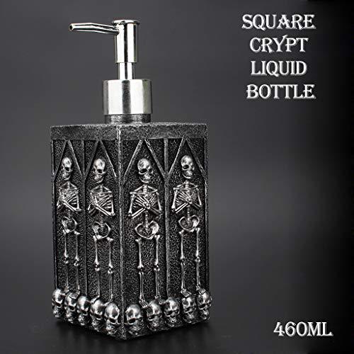 e Kreative Europäischen Und Amerikanischen Stil Platz Höhlenschädel Personal Home Square Händedesinfektionsmittel Duschgel Shampoo Flasche Vorratsflasche Füllung 460 ml ()