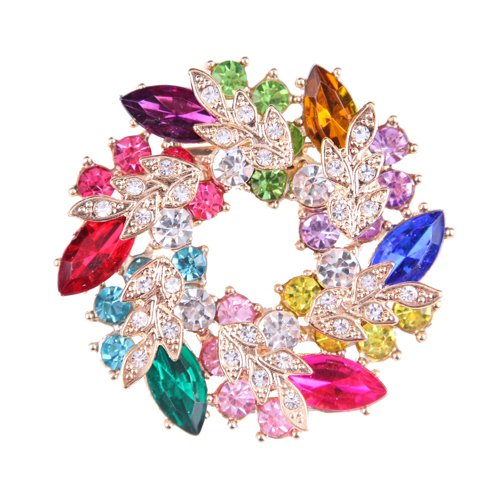 yokirin Weihnachten Brosche Weihnachtsbaum Design Kostüm Schmuck Funkelnde Kristall Handgefertigt Diamant Weihnachten Brosche Pin