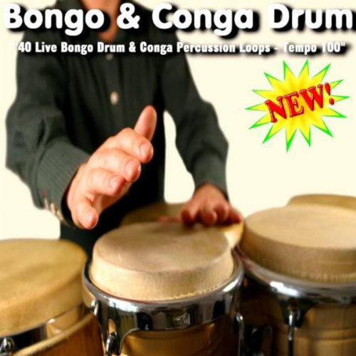 40 Live Bongo Drum & Conga Percussion Loops - Tempo 100