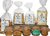 Sapori d'italia. Prodotti tipici italiani dalla regione Puglia. Pasta artigianale di semola di grano duro. Prodotti da forno dolci e salati, confetture conserve sott'olio, olive tipiche, patè
