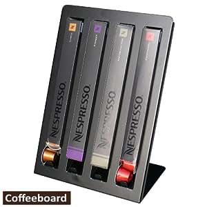 nespresso coffeeboard porta capsule per 4 confezioni di nepresso nero casa e cucina. Black Bedroom Furniture Sets. Home Design Ideas