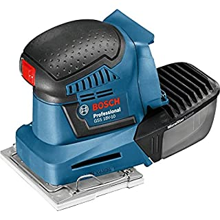 Bosch Professional Akku Schwingschleifer GSS 18V-10 (ohne Akku, 18 Volt, Schwingkreis-Ø: 1,6 mm, im Karton)