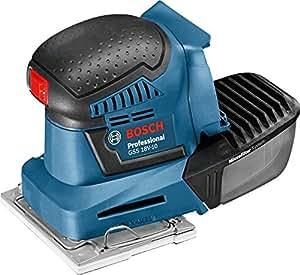 Bosch Professional Akku Schwingschleifer GSS 18V-10 (ohne Akku, Microfilterbox, 2 x Schleifpapier, Leerlaufdrehzahl: 11000 min-1, Schwingkreis-Ø: 1,6 mm, 18 Volt System, Karton)