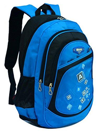 Longzibog Dual Tracolle Regolabili E Appendiopette Fashion Girls Backpack Satchel Sky Blue