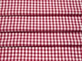 """Red & White Gingham ¼"""" Check Fabric - Sold by the Metre - Free P&P!"""