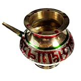 Salvus App SOLUTIONS Decorated Handmade Red Pooja Karwa 3.5 Inches
