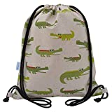 Crocodile Swim Bag Drawstring Backpack PE Bag