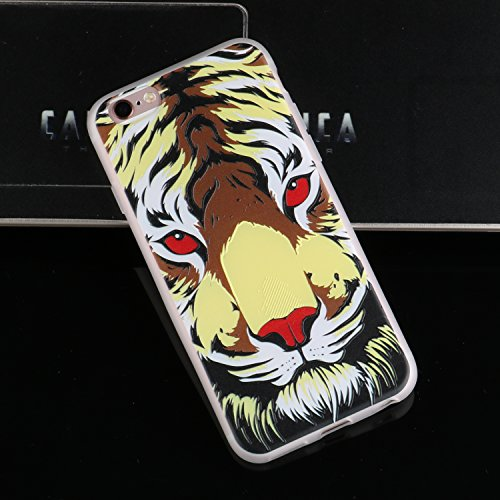 Coque iphone 6/6s, iphone 6/6s Etui TPU , Cozy Hut Sexy Ass Motif Mode Etui Coque TPU Slim pour iphone 6/6s (4.7 pouces) Mode Flexible Souple Soft Case Couverture Housse Protection Anti rayures Mince  tigre