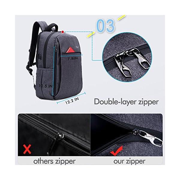 515XcQ6xK4L. SS600  - Fubevod Mochila de Ordenador portátil de negocios con cargador USB impermeable Bolsa de colegio negro