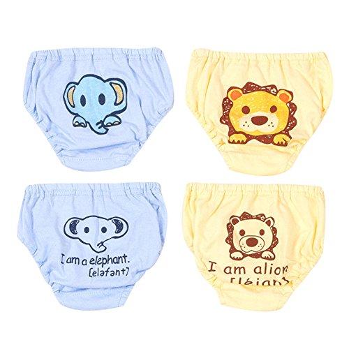 G-Kids 4 Pack Baby Unterwäsche Unterhose Slip Niedlich Cartoon Baumwolle Unterwäsche Shorts für Kinder Jungen 90