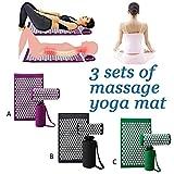 Akupressurmatte für die Massage mit Nackenentlastungskissen, Ganzkörper-Entspannungsmassageset für Ischias-Stress, Yoga-Meditation, Migräne-Stressabbau, Reflexzonenmassage, Ischias-Triggerpunktmassage