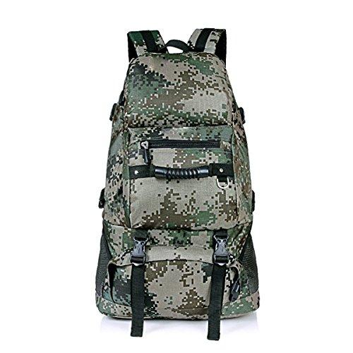 Huihai Männer Und Frauen Outdoor Große Kapazitäten Reise Rucksack Klettern Solid Trendy Feel Wearable Wasserabweisend Multi-Bag Buch Tasche Wallet School Moisture Camouflage