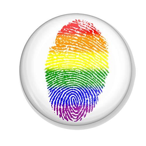 Gifts & Gadgets Co. Taschenspiegel, Taschenformat, 58 mm, groß, rund, Motiv: Gay Flag Pride Rainbow (Kommen Aus Dem Schrank Kostüm)
