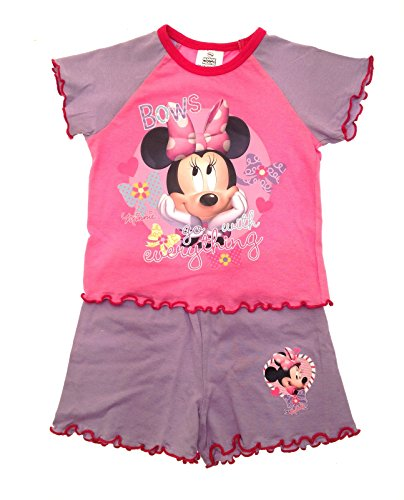 New Kids Girls Childrens Official Disney Minnie Mouse Micky Mouse Clubhouse Short Pyjamas Pj's Set Size 1 - 4 Years