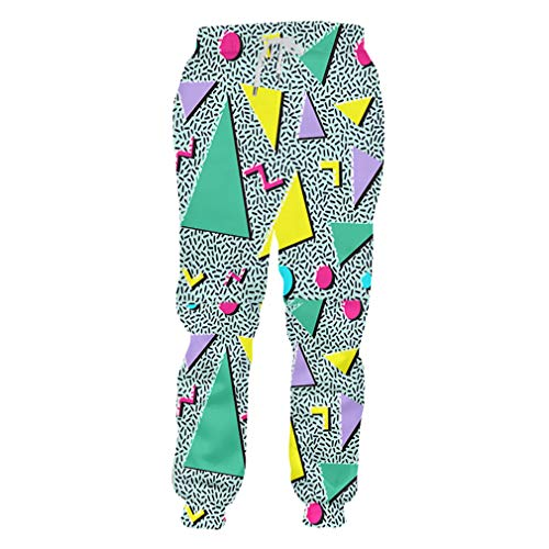 Männlich Kostüm Rock Star - cilily Harem Pants Hombre Lange Geometrische 3D-Hose Drucken Triangle Casual Übergroße Sweatpants Männliche Winter Jogger Hosen Triangle 5XL