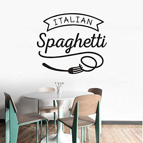 Qthxqa Adesivo Murale Cucina Italiana Spaghetti Parete In Vinile ...