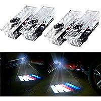 Luz del proyector de la puerta del coche, BSVLIA 4 Pack Logo automático Lámpara de la sombra de bienvenida LED Luces del fantasma de la puerta del coche de la puerta (4 PCS)