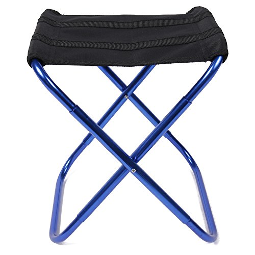Outdoor folding chairs - Aluminum alloy nylon square Foldable small seat - for travel camping beach fishing hunting golfing - Dragon Flame (blau) (Chair Beach Folding Nylon)