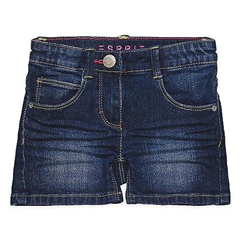 ESPRIT Mädchen Shorts RJ26013, Blau (Dark Indigo Denim 461), 128