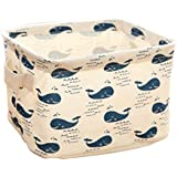 JUNGNE 1 PCS Organiseur Boîte Rangement en Tissu pour Soutien-Gorge Sous-Vêtements Chaussettes Collants Produits Cosmétiques Modèle de Baleine
