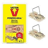 Victor Mausefalle Power Kill (2er Pack) - Starke, Wiederverwendbare Schlagfallen für Schnelle & Humane Bekämpfung von Mäusen - Mod. M142S