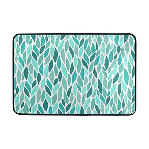Klotr Fußabtreter, Leaves Anti-Slip Mat Indoor/Outdoor Washable Garden Office Door Mat,Rug Doormat 23.6x15.7 Inch Home Decor -