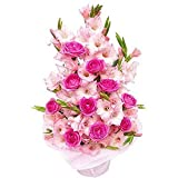 Florazone Just Beautiful Basket Arrangement Of Roses And Glads Flowers Same Day Delivery