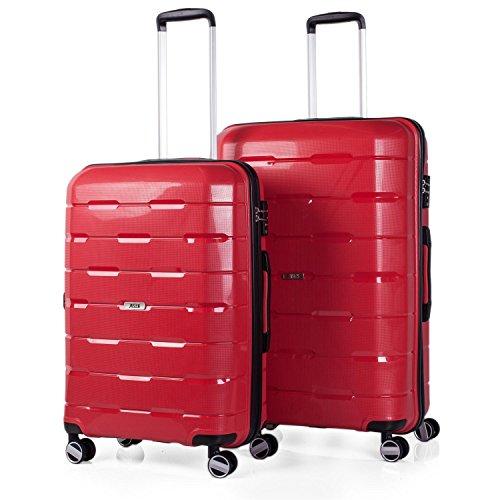 Juego de Maletas Jaslen de Polipropileno Con TSA - Rojo