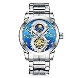 Orologio da polso uomini meccanici di orologi automatici Intervet Stowe volano vigilanza di modo stelle fiore maschile (Color : 1)