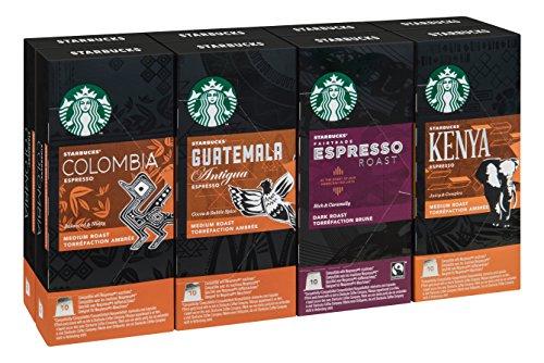 Starbucks Nespresso 80 Pod Selection Coffee Set
