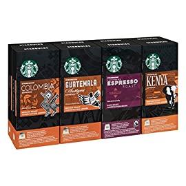Starbucks Nespresso Espresso Selection Coffee Set 4 Flavour Variety Pack (Total 80 Pods)