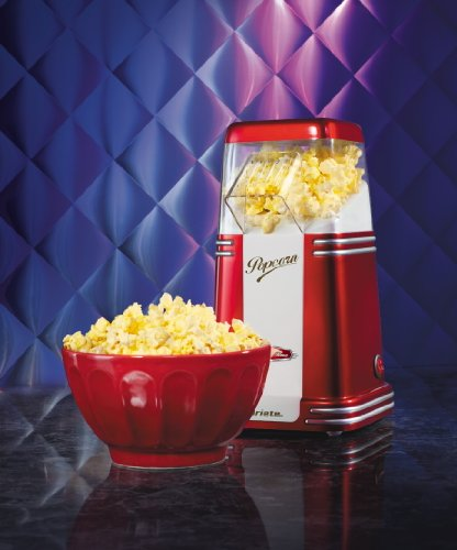 = Ariete 2952 Popcorn Popper – Macchina per Pop Corn Compatta, Cottura ad aria calda senza grassi, 1100W, 60gr di mais pronti in meno di 2′, Rosso lista dei prezzi