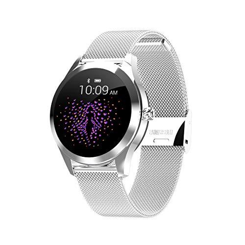 HKPLDE Smartwatch Damen/Aktivitätstracker Farbbildschirm mit Pulsmesser Touchscreen Schlafüberwachung / 9 Sportuhr Kalorienzähler für iOS Android-B