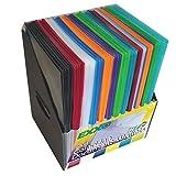 Sichttaschen Sammler mit 120 Dokumentenmappen farbig sortiert, A4