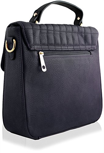 Yufashion per donna, trapuntato in finta pelle Boutique Totes Borsa NAVY