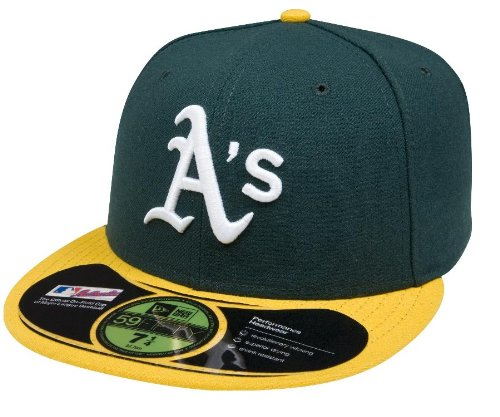 New Era MLB Home Authentic Collection On Field 59FIFTY Fitted Cap, Herren, ACPERF OAKATH HM, Oakland Athletics, 7 1/8 -