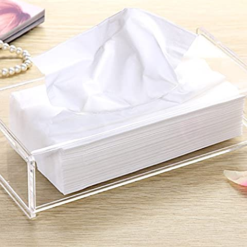 weiai Facial Tejido caja dispensadora de baño transparente acrílico de diseño moderno/decorativo servilletero
