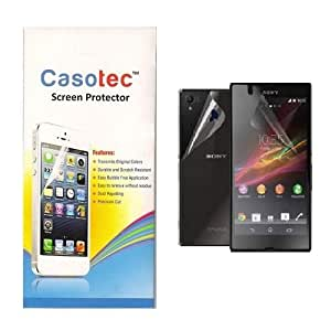 Casotec Super Clear Screen Protector for Sony Xperia Z1 Compact (Front & Back)