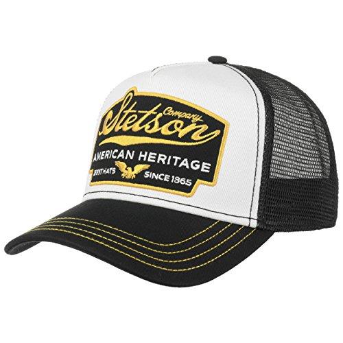 Stetson Casquette Trucker American Heritage Homme - Mesh de Baseball Snapback Snapback, avec Visiere Printemps-ete