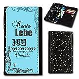 Strass Book Style Flip Handy Tasche Case Schutz Hülle Foto Schale Motiv Etui für Mobistel Cynus F6 - Flip SU5 Design11