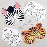 Baker Ross- Antifaces de Animales para colorear (Pack de 8) -ideales para Manualidades Infantiles