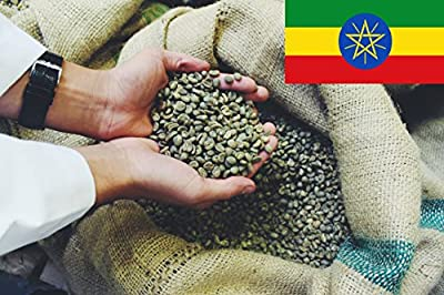 Ethiopian Mocha Djimmah Green Coffee Beans - Unroasted Raw - Perfect for Home Roasting by Hand Roasted Coffee Warehouse