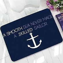 Zmvise Kill design marine Boat Anchor elegante decorativo, motivo nautico zerbino colture Custom tappetini per interni ed esterni, Poliestere, Style4, 40 x 60 cm