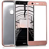 kwmobile Funda para Huawei P10 Lite - Case completa para móvil de TPU sílicona - Cover trasero completo en oro rosa metalizado