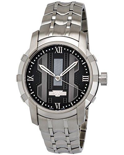 Dewitt Glorious Knight in acciaio INOX nero orologio automatico da uomo...