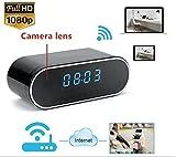 TenSky 1080P HD Reloj Despertador WIFI Red Espía Cámara Mini DV Videocámara Portátil Grabador de...