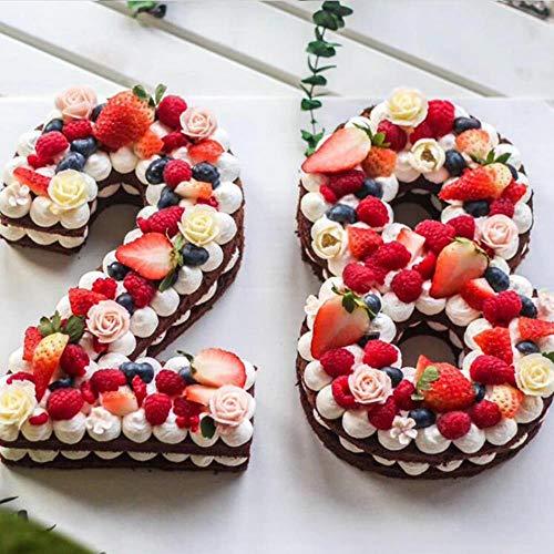 Formen für Kuchen, Kunststoff, Alphabet, Zahlen, Kuchen, Dekoration, Fondant, Werkzeug, Hochzeit, Geburtstag, Backen, Kuchen, Zubehör, 35,6 cm
